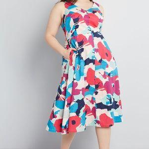 ModCloth x Emily & Fin Miss Magnificent Midi Dress